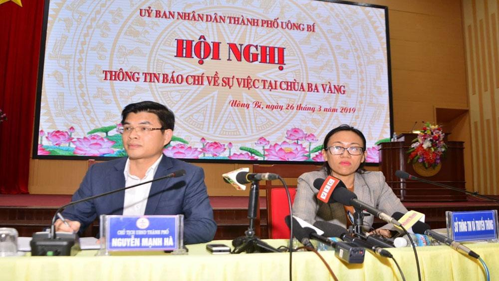 Thông tin quanh vụ chùa Ba Vàng: Xử phạt và không cho bà Phạm Thị Yến tạm trú tại đây